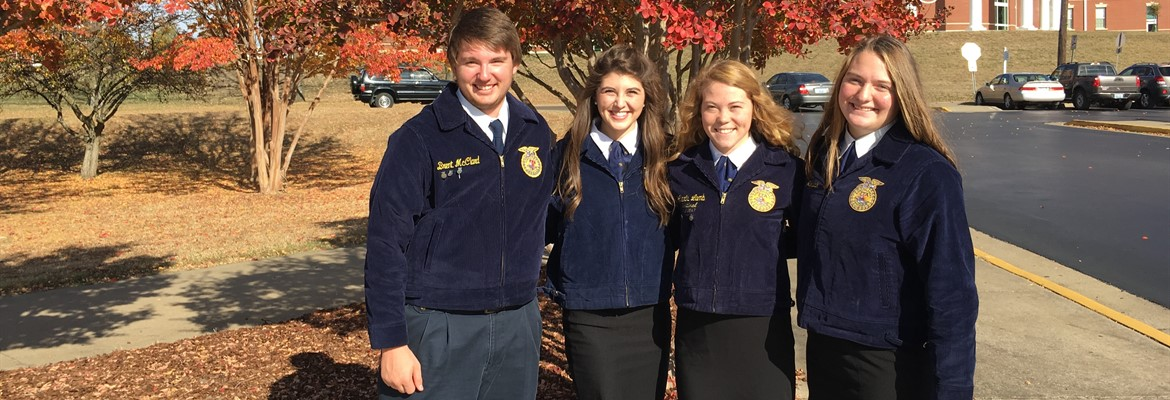 On Friday, the Calloway County Ag Sales Team sold the judges on their product (propagation mats), and placed 1st in the region.  This is the 14th consecutive year that Calloway County FFA Members have won the regional championship in the Ag Sales Con