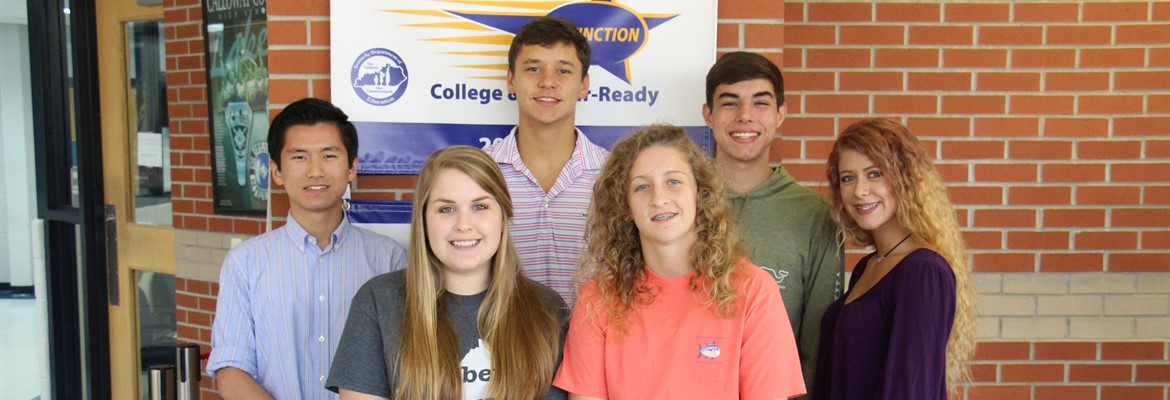 Congratulations to these six juniors for recently being named to the Kentucky Governor's Scholar Program this summer.  Left to right: Michael Okuda, Avery Wilmurth, Logan Eastwood, Hannah Anderson, Garrison Capps and Kyla Mitchell.