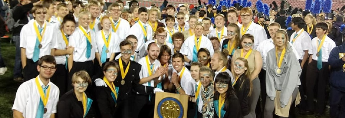 The CCHS Marching Band performed at Papa Johns Stadium over the weekend placing 4th overall in the state for 3A schools.  Congratulations!