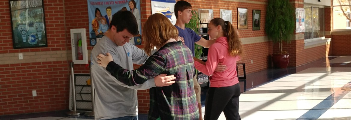 Students are learning how to waltz in Mrs. Lyles HAVPA class at the high school.