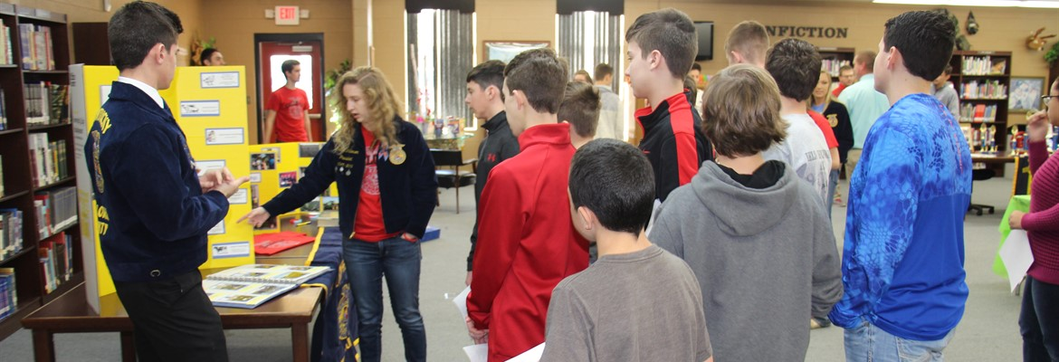 CCHS FFA officers met with interested 8th grade students explaining to them all of the benefits of joining FFA.