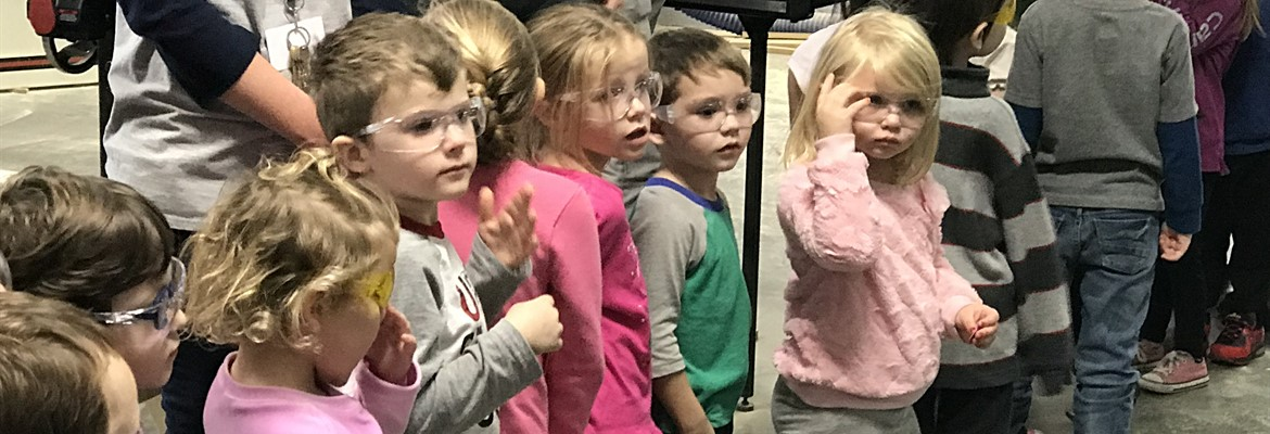 CC Preschool visited our Calloway County Technology Center recently.
