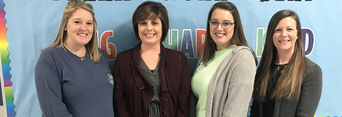 Congratulations to these North Elementary Teachers for earning their National Board Certifications recently.  L to R: Robyn Darnell, Jennifer Doyle, Kaysin Higgins, Jennifer McCafferty.