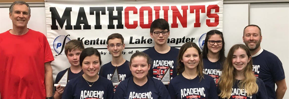 The Math Counts Team recently competed at the Kentucky Laker Regional Competition held on the campus at WKVTC in Paducah, KY.