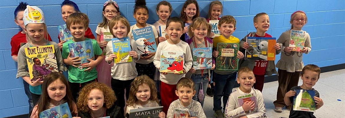 KEA recently donated books to all kindergarteners.  Here are some of North's kindergarteners with their books.