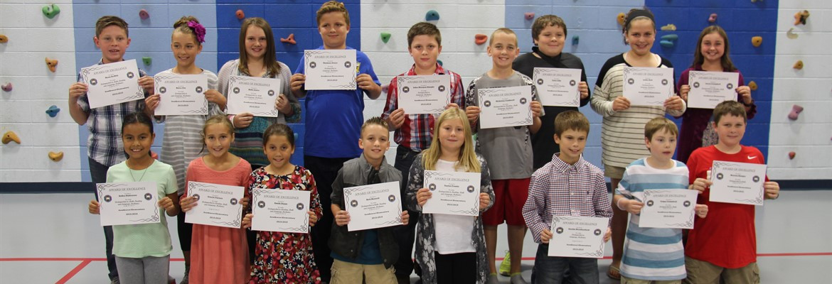 Last year's 4th grade students from Southwest Elementary who scored distinguished on the 2016 KPREP state test were honored at the October school board meeting held at Southwest.