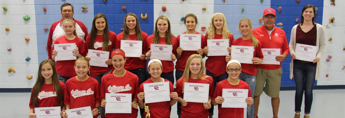CCMS girls softball team was recognized at the October school board meeting for finishing their season by placing 3rd in the state.