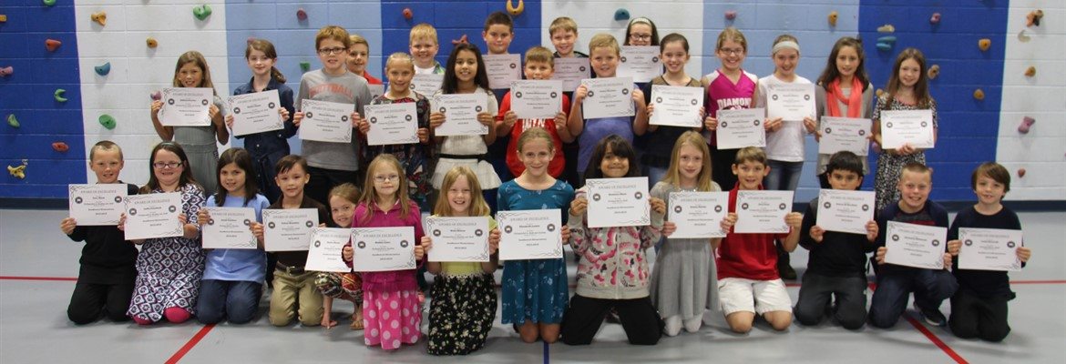 Last year's 3rd grade students from Southwest Elementary who scored distinguished on the 2016 KPREP state test were honored at the October school board meeting held at Southwest.
