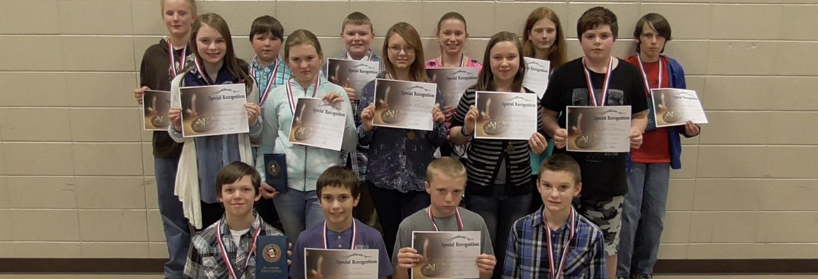 East Calloway students scoring distinguished on the state test!