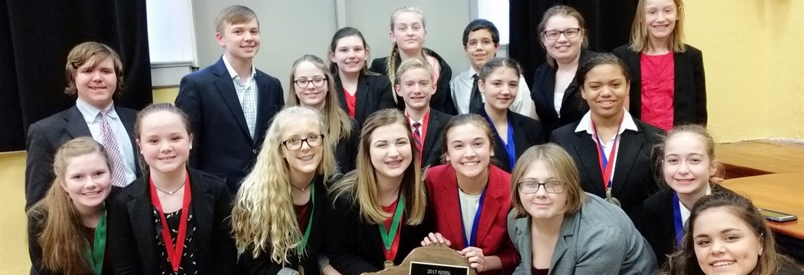 The Calloway County Middle School Speech Team defended their Regional Championship title this weekend, claiming their 14th consecutive Murray Region Title.