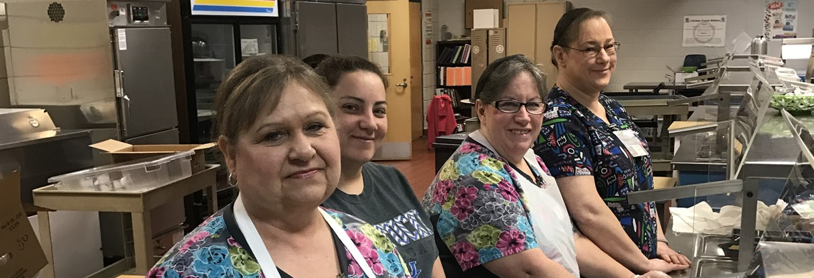 Cafeteria staff at the high served up a terrific breakfast recently for National School Breakfast Week.  Thank you to all of our food service personnel for all of the hard work you do.