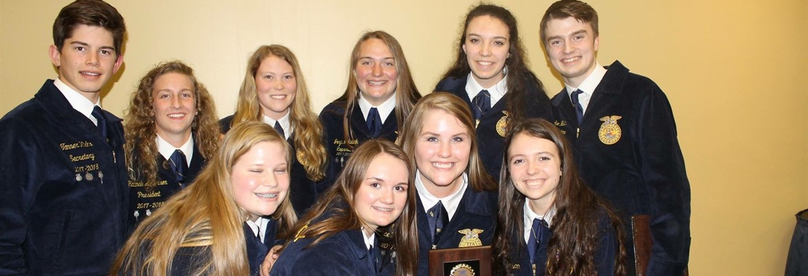 FFA Parliamentary Procedures Team won the regional competition recently.  They will be competing at state this summer.