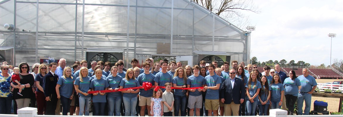 Greenhouse Ribbon Cutting Ceremony.
